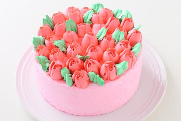 3Dお花畑ケーキ 4号 12cm