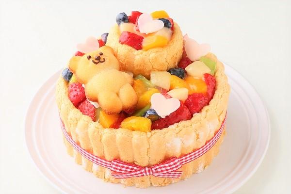 2段重ねファーストバースデーケーキ ホイップヨーグルトクリーム 下段12㎝上段6.5㎝の画像1枚目