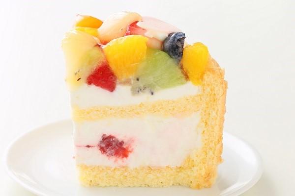 2段重ねファーストバースデーケーキ ホイップヨーグルトクリーム 下段12㎝上段6.5㎝の画像4枚目