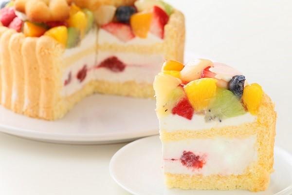 2段重ねファーストバースデーケーキ ホイップヨーグルトクリーム 下段12㎝上段6.5㎝の画像5枚目