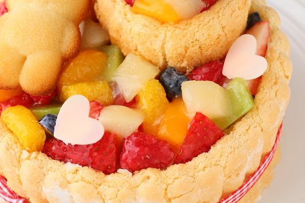 2段重ねファーストバースデーケーキ ホイップヨーグルトクリーム 下段12㎝上段6.5㎝の画像8枚目