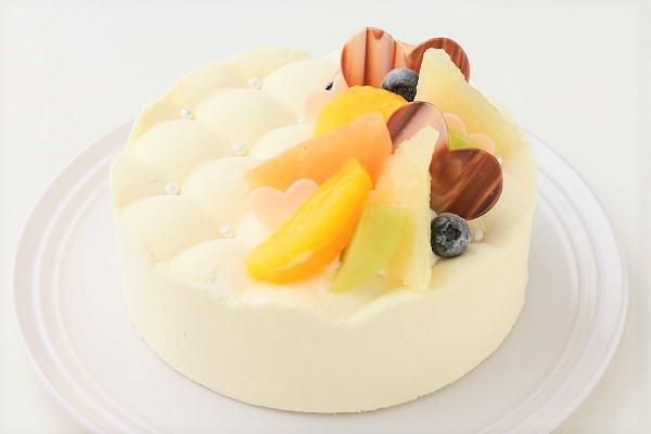 さっぱりチーズとレモンクリーム  高級キルティングデコレーション 4号 12cm