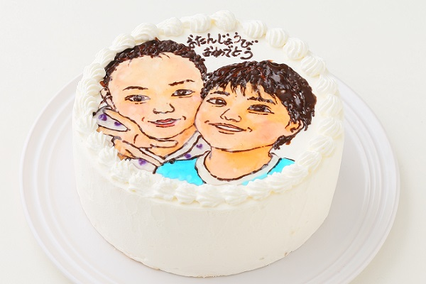 似顔絵ケーキ 7号 21cmの画像4枚目