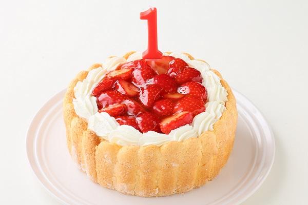 ファーストバースデー イチゴケーキ ヨーグルト 3号 9cm