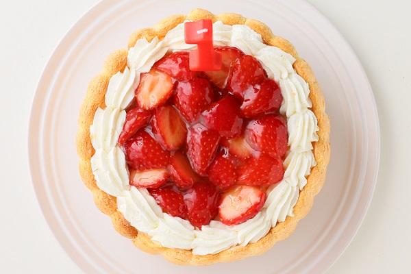 ファーストバースデー イチゴケーキ ヨーグルト 4号 12cmの画像2枚目