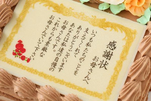 感謝状(メッセージ)生チョコケーキ  約15cmx約14cm 高さ約7cmの画像6枚目