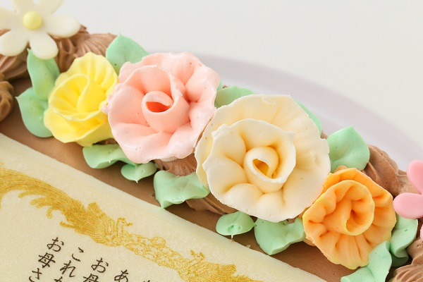 感謝状(メッセージ)生チョコケーキ  約15cmx約14cm 高さ約7cmの画像7枚目