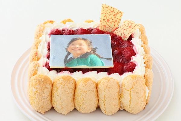 写真プレート付き レアチーズキャレ フォトケーキ 4号 12cmの画像2枚目