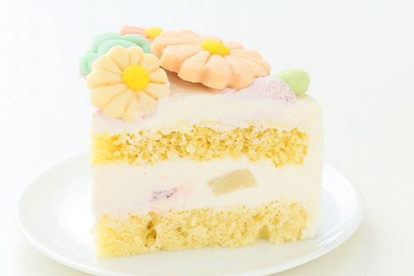 お花畑のメッセージケーキ☆国産小麦粉使用の優しい色と味わい 5号 15cmの画像4枚目