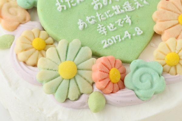 お花畑のメッセージケーキ☆国産小麦粉使用の優しい色と味わい 6号 18cmの画像8枚目