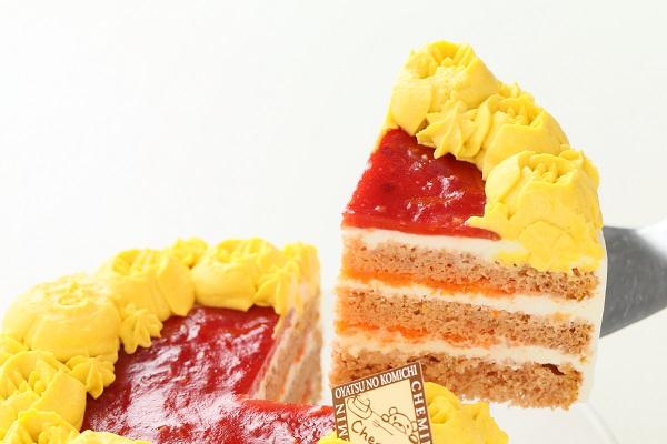 お野菜畑のヨーグルトクリームケーキ(カボチャ)キャラ 4号 12cmの画像5枚目
