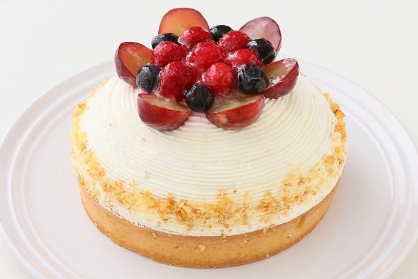 【一日5台限定】木苺のホワイトバースデーケーキ 14cmの画像1枚目