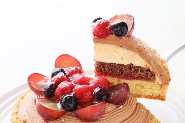【一日5台限定】木苺のチョコレートバースデーケーキ 14cmの画像5枚目