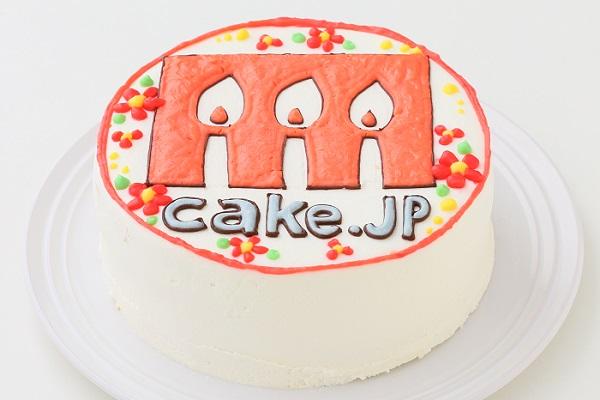 企業ロゴ&ブランドロゴケーキ(丸型)4号 12cmの画像1枚目