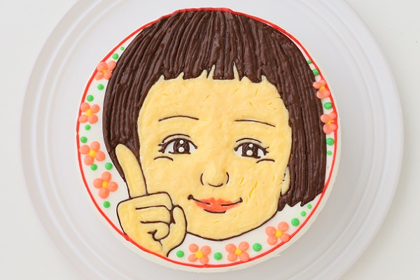 似顔絵ケーキ(丸型)4号 12cmの画像1枚目