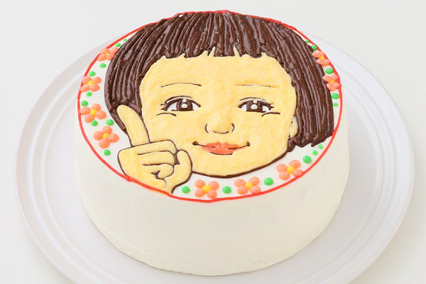似顔絵ケーキ(丸型)7号 21cmの画像2枚目