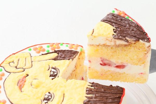 似顔絵ケーキ(丸型)4号 12cmの画像3枚目