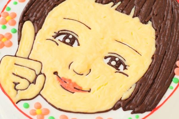 似顔絵ケーキ(丸型)4号 12cmの画像6枚目