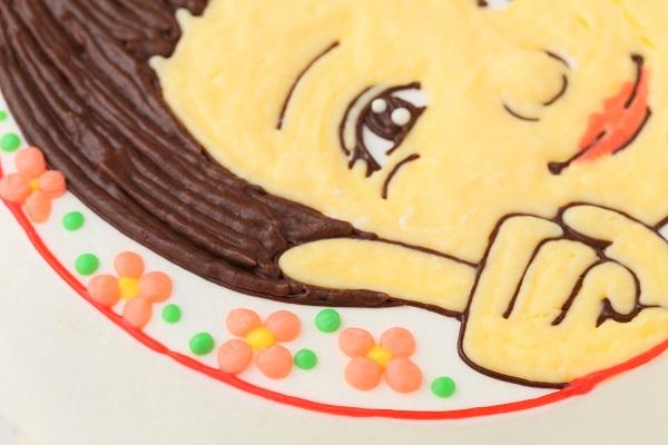 似顔絵ケーキ(丸型)7号 21cmの画像7枚目