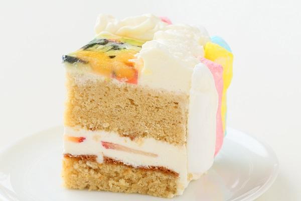 お好きな色が選べる!カラフルフォトケーキ 15×15cmの画像10枚目