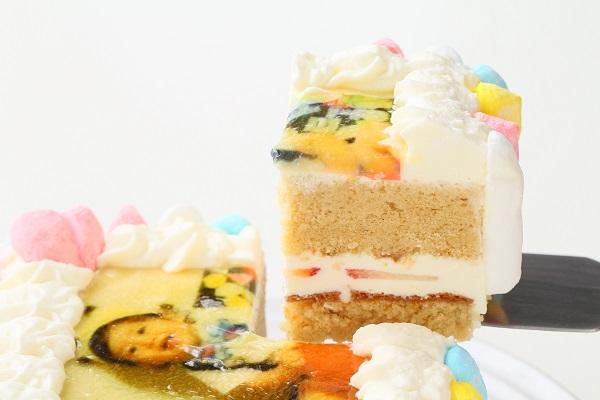 お好きな色が選べる!カラフルフォトケーキ 15×15cmの画像9枚目