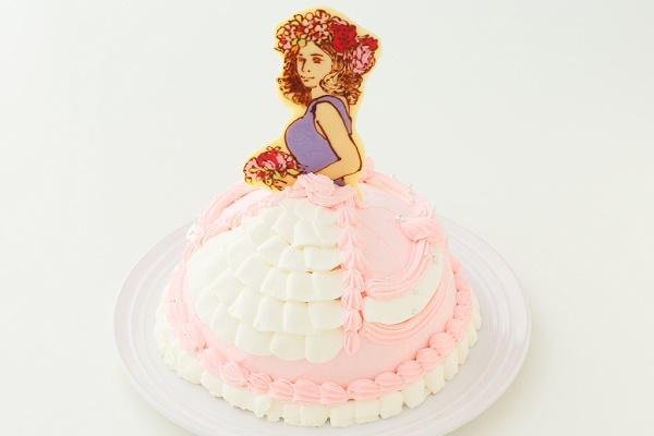 キャラクター&似顔絵 オーダードールケーキ チョコレートタイプ 5号 15cmの画像2枚目