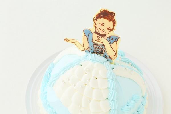 キャラクター&似顔絵 オーダードールケーキ チョコレートタイプ 5号 15cmの画像11枚目