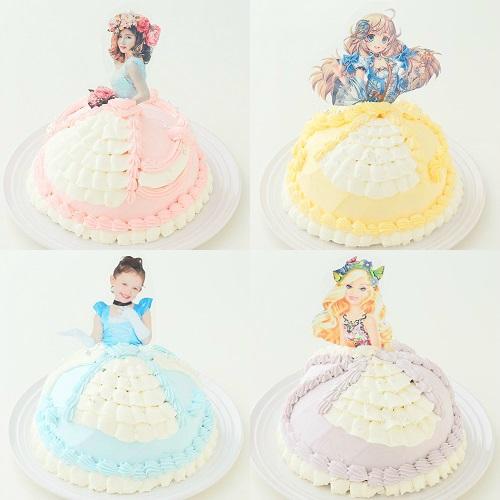 キャラクター&似顔絵 オーダードールケーキ パネルタイプ 5号 15cm