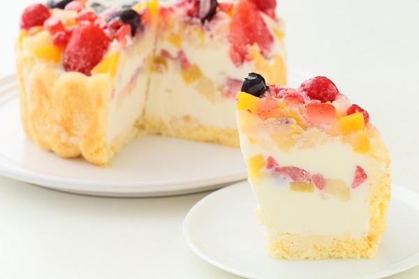 生乳アイスクリームフルーツアイスケーキ5号 15cmの画像5枚目
