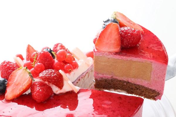 カシスとミルクチョコレートのアイスケーキ 4号 12cmの画像5枚目