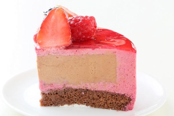カシスとミルクチョコレートのアイスケーキ 4号 12cmの画像6枚目