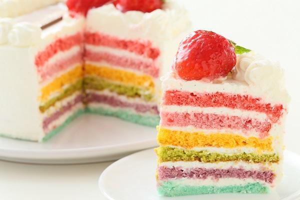 レインボーケーキ 5号 15cmの画像1枚目