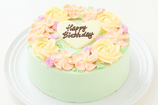 フラワーバタークリームデコレーションケーキ 5号 15cmの画像1枚目