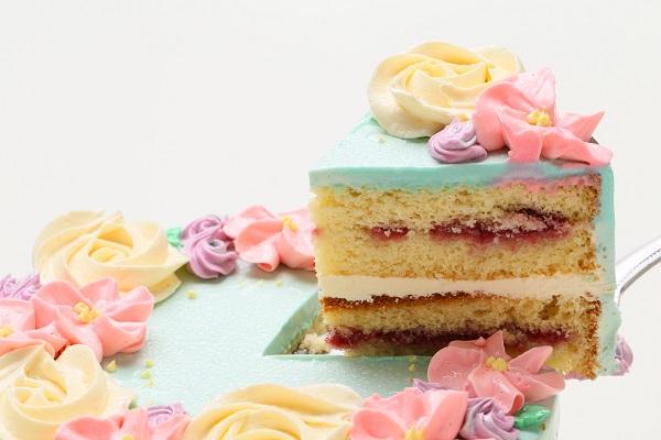 フラワーバタークリームデコレーションケーキ 5号 15cmの画像3枚目