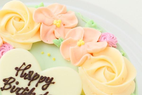 フラワーバタークリームデコレーションケーキ 5号 15cmの画像7枚目