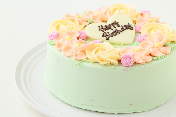 フラワーバタークリームデコレーションケーキ 5号 15cmの画像8枚目