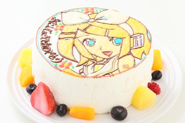 イラスト1体のみ イラストデコレーションケーキ(丸型)4号 12cmの画像4枚目