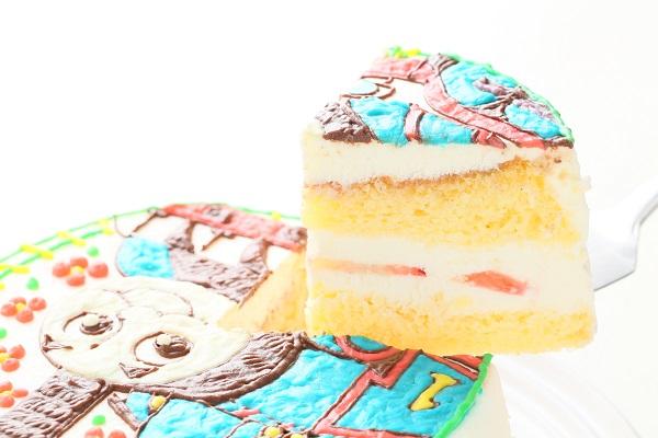 イラスト1体のみ イラストデコレーションケーキ(丸型)4号 12cmの画像6枚目