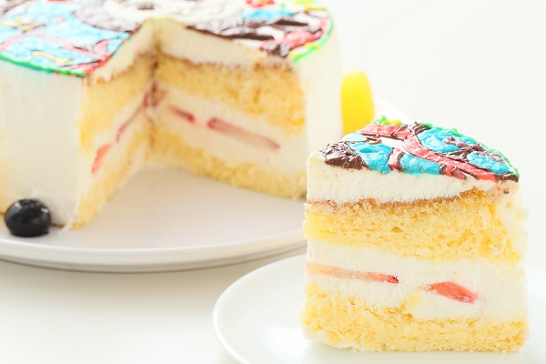 イラスト1体のみ イラストデコレーションケーキ(丸型)4号 12cmの画像8枚目