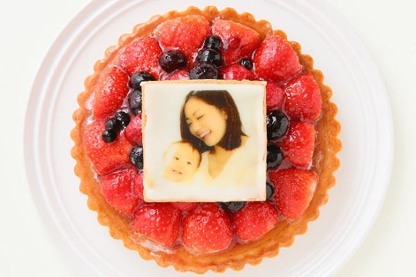 写真クッキー付き 3種のベリータルト 5号 15cmの画像2枚目