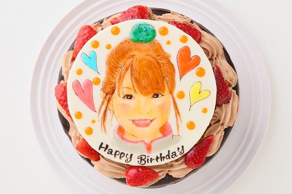 似顔絵ケーキ チョコレート 4号 12cm