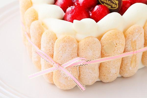 最高級洋菓子 特注ハート型シュス木苺レアチーズケーキ 14cmの画像12枚目