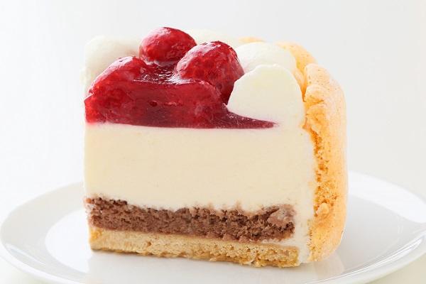 最高級洋菓子 特注ハート型シュス木苺レアチーズケーキ 14cmの画像6枚目