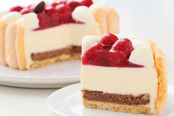 最高級洋菓子 特注ハート型シュス木苺レアチーズケーキ 14cmの画像7枚目