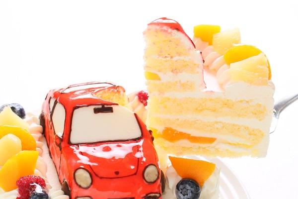 のりもの立体生クリームデコレーションケーキ 5号 15cmの画像6枚目