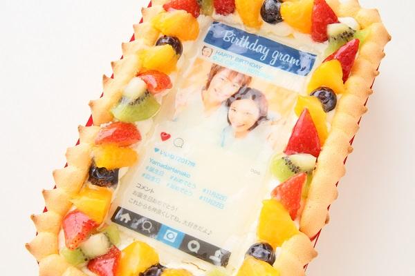 インスタグラム風フレームの写真ケーキ 23cm×15cm×6cmの画像7枚目