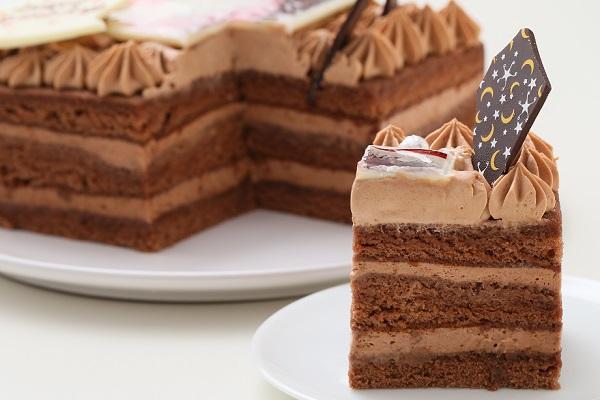 スクエア型フォトチョコ生クリームデコレーションケーキ 11cmの画像5枚目