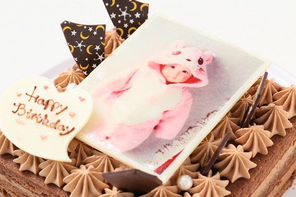 スクエア型フォトチョコ生クリームデコレーションケーキ 11cmの画像7枚目