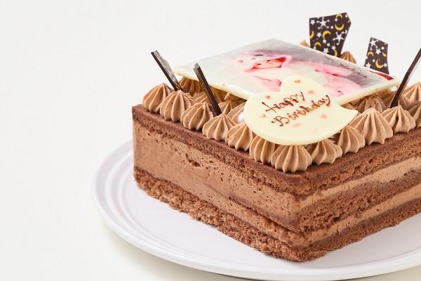 スクエア型フォトチョコ生クリームデコレーションケーキ 11cmの画像9枚目