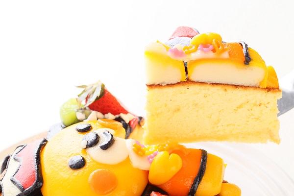 土台あり 立体キャラクターケーキ スフレチーズケーキ 5号 15cmの画像5枚目